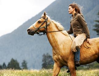women on horseback